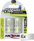 6x2 Ansmann maxE NiMH Akku Baby C 2500 mAh 5030912