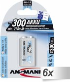 1x6 Ansmann maxE NiMH Akku 300 9V-Block 270 mAh 5035453