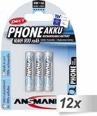 12x3 Ansmann maxE NiMH Akku Micro AAA 800 mAh DECT PHONE