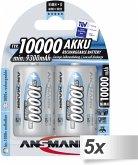 5x2 Ansmann NiMH Akku 10000 Mono D 9300 mAh 5030642