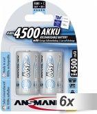 6x2 Ansmann maxE NiMH Akku Baby C 4500 mAh 5035352