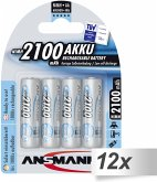 12x4 Ansmann maxE NiMH Akku Mignon AA 2100 mAh 5035052