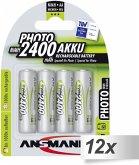 12x4 Ansmann NiMH Akku Mignon AA 2400 mAh PHOTO