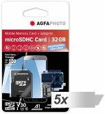 5x1 AgfaPhoto MicroSDHC UHS-I 32GB Prof. High Speed U3 V30 A1
