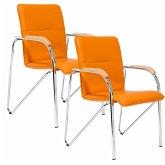 Besucherstuhl-Set, 2-tlg. Samba Orange