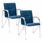 Besucherstuhl-Set, 2-tlg. Samba Blau