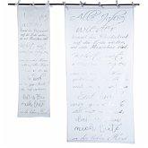 Organdy-Vorhang X-Mas-Song Weiß/Silberfarben 45 x 150 cm