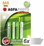 6x4 AgfaPhoto Akku NiMh Micro AAA 900 mAh