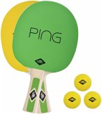 Donic-Schildkröt 788486 - Tischtennis-Set PING PONG, 2 Schläger + 3 Bälle