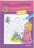 Malen und Rätseln für Kindergartenkinder. Prinzessinnen