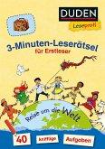 Duden Leseprofi - 3-Minuten-Leserätsel für Erstleser: Reise um die Welt