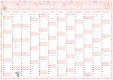 Großer rosa Wandkalender 2020 in DIN A1 (84 x 59,4 cm) für zu Hause oder das Büro