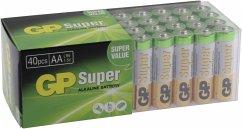 1x40 GP Super Alkaline AA Mignon Batterien PET Box 03015AB40