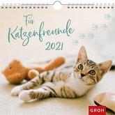 Für Katzenfreunde 2021 Dekorativer Wandkalender mit Monatskalendarium