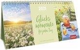 Glücksmomente für jeden Tag 2021 3-teiliger Tischkalender mit Monatskalendarium