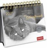 Katzenglück 2021: Postkarten-Kalender mit separatem Wochenkalendarium