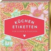 Etiketten für Gläser und Flaschen, Pinke Blumen