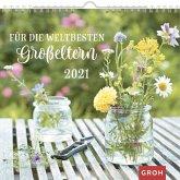 Für die weltbesten Großeltern 2021: Dekorativer Wandkalender mit Monatskalendarium