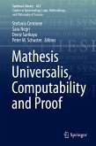 Mathesis Universalis, Computability and Proof (eBook, PDF)