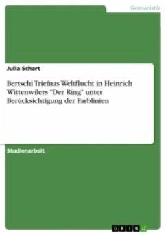 Bertschi Triefnas Weltflucht in Heinrich Wittenwilers