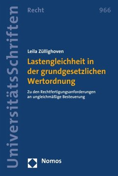 Lastengleichheit in der grundgesetzlichen Wertordnung (eBook, PDF) - Züllighoven, Leila