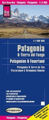 Reise Know-How Landkarte Patagonien, Feuerland / Patagonia, Tierra del Fuego (1:1.400.000) - Reise Know-How Verlag Peter Rump