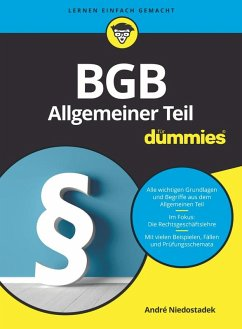 BGB Allgemeiner Teil für Dummies (eBook, ePUB) - Niedostadek, André