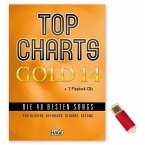 Top Charts Gold, m. 2 Audio-CDs + Midifiles, USB-Stick)