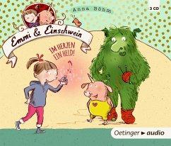 Im Herzen ein Held! / Emmi & Einschwein Bd.2 (3 Audio-CDs) (Mängelexemplar) - Böhm, Anna