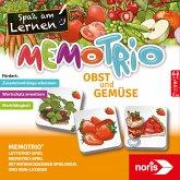 Noris 606071862 - MemoTrio, Lotto Trio, Mini Lexikon, Obst und Gemüse