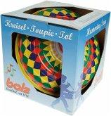 LENA® 52225 - Bolz Brummkreisel Multicolor 19 cm, Schwungkreisel, Spielzeugkreisel, Pumpkreisel