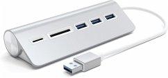 Satechi Aluminum USB 3.0 Hub & Card Reader silver