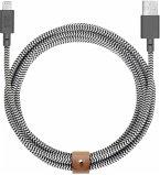 Native Union Belt Cable USB-A to Lightning 3m Zebra