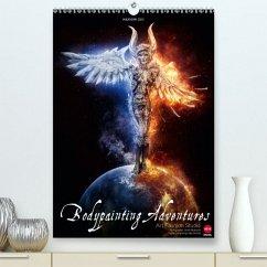 BODYPAINTING ADVENTURES (Premium, hochwertiger DIN A2 Wandkalender 2020, Kunstdruck in Hochglanz) - Fashion Studio, Art