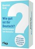 Wie gut ist Ihr Deutsch? - Das Kartenspiel zum Bestseller (Spiel)