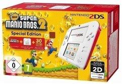 Nintendo 2DS weiß/rot + New Super Mario Bros. 2 (vorinstalliert)