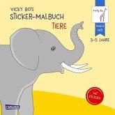 Vicky Bo's Sticker-Malbuch Tiere: Erstes Malen, Zeichnen und Kritzeln mit Stickern