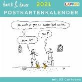 Hauck & Bauer Postkartenkalender 2021: Cartoons zum Aufstellen und Verschicken