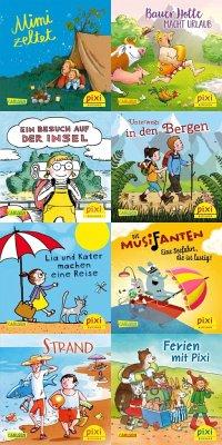 Pixi-Serie 268: In die Ferien mit Pixi (8x8 Exemplare) - Cordes, Miriam; Rahlff, Ruth; Damm, Antje; Dully, Sabine; Paulsen, Rüdiger; Nettingsmeier, Simone; Dölling, Beate