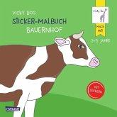 Vicky Bo's Sticker-Malbuch Bauernhof: Erstes Malen, Zeichnen und Kritzeln mit Stickern