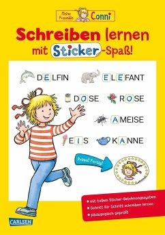 Schreiben lernen mit Sticker-Spaß / Conni Gelbe Reihe Bd.50 - Sörensen, Hanna