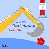 Vicky Bo's Sticker-Malbuch Fahrzeuge: Erstes Malen, Zeichnen und Kritzeln mit Stickern