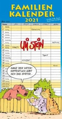Uli Stein - Familienkalender 2021: Familienplaner mit 5 Spalten - Stein, Uli