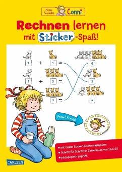 Rechnen lernen mit Sticker-Spaß / Conni Gelbe Reihe Bd.51 - Sörensen, Hanna