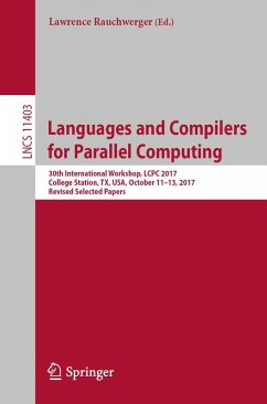 Languages and Compilers for Parallel Computing (eBook, PDF)