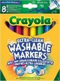 Crayola 8 Ultra-Clean aus- und abwaschbare Filzstifte