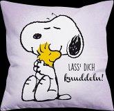 Snoopy Kissen - Lass dich knuddeln