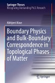 Boundary Physics and Bulk-Boundary Correspondence in Topological Phases of Matter (eBook, PDF)