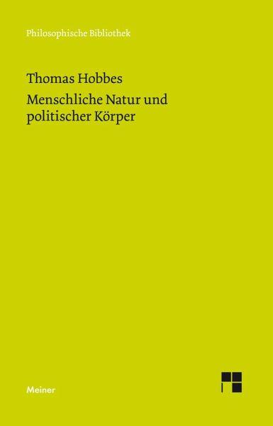 Menschliche Natur und politischer Körper (eBook, PDF)