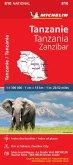 Michelin Karte Tanzanie-Zanzibar